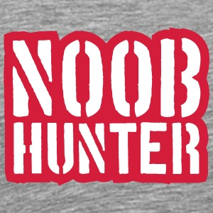 Shooter Noob Hunter logodesign T-skjorter - Premium T-skjorte for menn