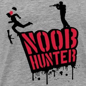 Shooter Noob Hunter drops of blood graffiti T-Shirts - Men's Premium T-Shirt