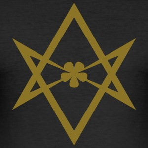 Unicursal hexagram, Golden Dawn, Kabbalah, Magick T-shirts - Herre Slim Fit T-Shirt