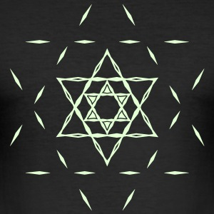 ✡ Hexagram, Magic, Merkaba, David Star, Yin Yang T-Shirts - Men's Slim Fit T-Shirt