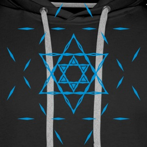 ✡ Hexagram, Magic, Merkaba, David Star, Yin Yang Sweatshirts - Herre Premium hættetrøje