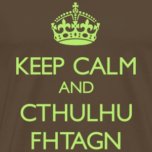 Keep Calm and Cthulhu Fhtagn - T-shirt Premium Homme