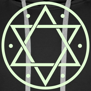 Hexagram, Magic, Merkaba, David Star, Yin Yang Pul - Männer Premium Hoodie