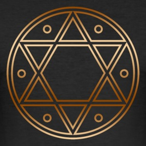 Seal of Solomon, Magic Sigil, hexagram, symbol T-Shirts - Men's Slim Fit T-Shirt