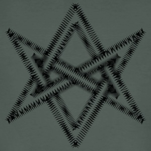 Unicursal hexagram, Golden Dawn, Kabbalah, Magick T-shirts - Mannen Bio-T-shirt