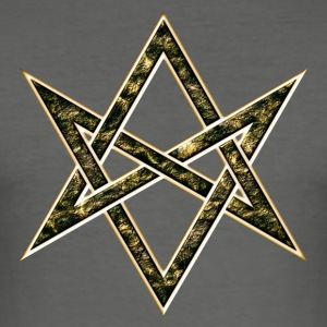 Unicursal Hexagram, Star, Kabbalah, Symbol T-skjorter - Slim Fit T-skjorte for menn