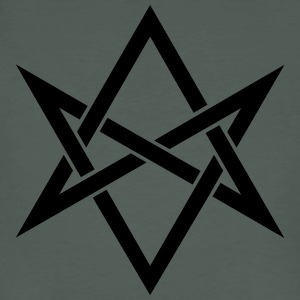 Unicursal hexagram, Golden Dawn, Kabbalah, Magick T-skjorter - Økologisk T-skjorte for menn