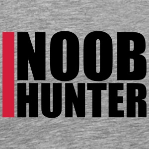 Kul Noob Hunter Design T-skjorter - Premium T-skjorte for menn