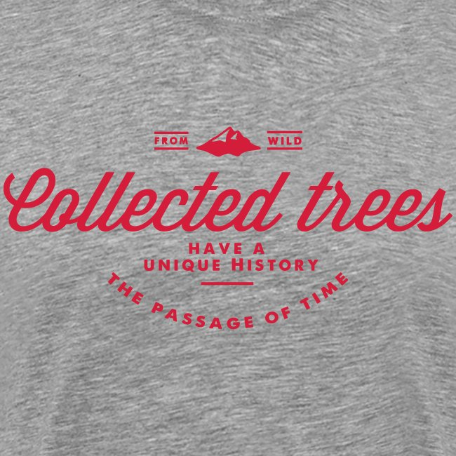 T-Shirt homme THE Collected trees VINTAGE LOGO (red)