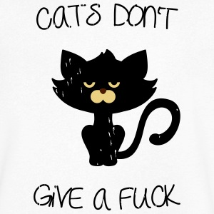 Cats don't give a fuck T-skjorter - T-skjorte med V-utsnitt for menn