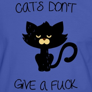 Cats don't give a fuck T-Shirts - Men's Ringer Shirt