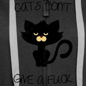 Cats don't give a fuck Sweaters - Vrouwenjack met capuchon Premium
