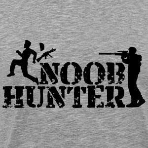 Noob Hunter Army Logo T-Shirts - Men's Premium T-Shirt
