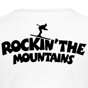 Rockin the Mountains Ski T-Shirt (Damen Weiß/Schw - Frauen Premium T-Shirt