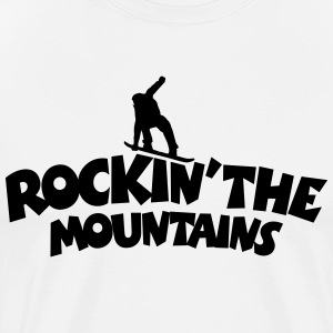Rockin the Mountains Snowboard T-Shirt (Herren Wei - Männer Premium T-Shirt