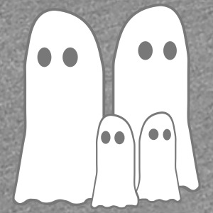 Cute little ghost Parents 2 Children T-Shirts - Women's Premium T-Shirt