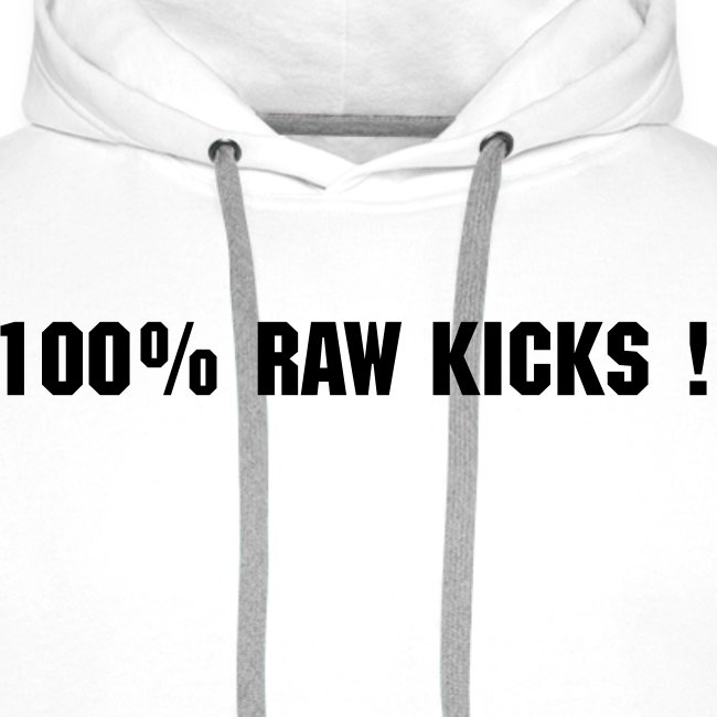 NEW Mens 100% Raw Kicks Hoodie With Retro Yellow TS logo On Back