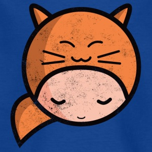 kawaii sarah happy cat worn out Magliette - Maglietta per bambini