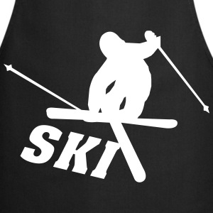 Ski, ski, skiing, après ski, freeski, winter  Aprons - Cooking Apron