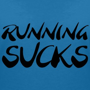 Running sucks T-Shirts - Women's V-Neck T-Shirt
