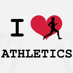 I Love Athletics  T-shirts - Herre premium T-shirt