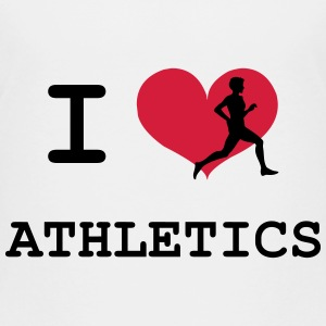 I Love Athletics  Shirts - Kids' Premium T-Shirt