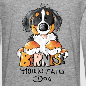 Cute Bernese Mountain Dog - Dogs Long sleeve shirts - Men's Premium Longsleeve Shirt