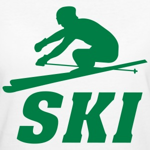 Ski,Ski fahren,Skiing,Apres ski,freeski,Winter T-Shirts - Frauen Bio-T-Shirt