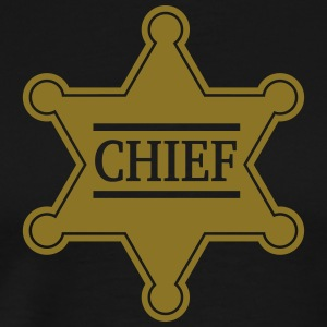 Chief Sheriff Star, Wild West America, Chef, Boss Koszulki - Koszulka męska Premium