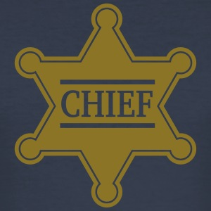 Chief Sheriff Star, Wild West America, Chef, Boss T-Shirts - Men's Slim Fit T-Shirt