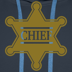 Chief Sheriff Star, Wild West America, Chef, Boss Sweaters - Mannen Premium hoodie
