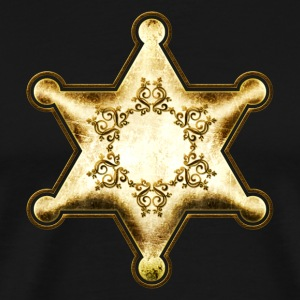 Gold Sheriff Star, Wild West America, Chief, Boss Camisetas - Camiseta premium hombre