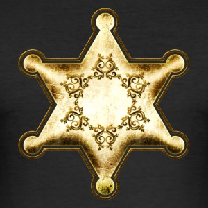Gold Sheriff Star, Wild West America, Chief, Boss T-shirts - slim fit T-shirt
