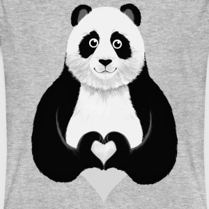 Cute Panda Heart Hand Sign T-shirts - Organic mænd