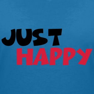 Just happy T-shirts - T-shirt med v-ringning dam