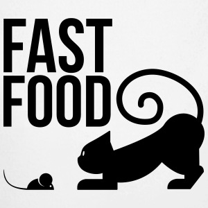 fast food - cat with mouse Hoodies - Longlseeve Baby Bodysuit