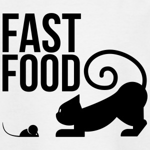 fast food - cat with mouse Shirts - Teenage T-shirt
