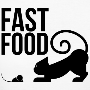 fast food - cat with mouse T-Shirts - Women's Organic T-shirt