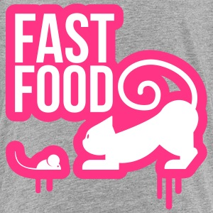 fast food cat with mouse 2 Shirts - Teenage Premium T-Shirt