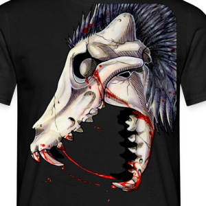 Black Canine Skull -Up T-Shirts - Men's T-Shirt