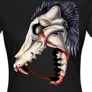 Black Canine Skull -Up T-Shirts - Women's T-Shirt