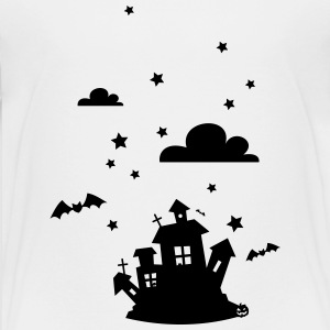 Halloween House with bats Shirts - Teenage Premium T-Shirt