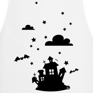 Halloween House with bats  Aprons - Cooking Apron