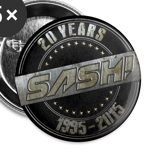 SASH! 20 Years Buttons