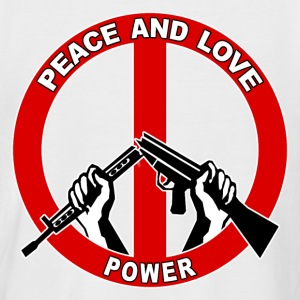 peace symbol 2 T-Shirts - Men's Baseball T-Shirt