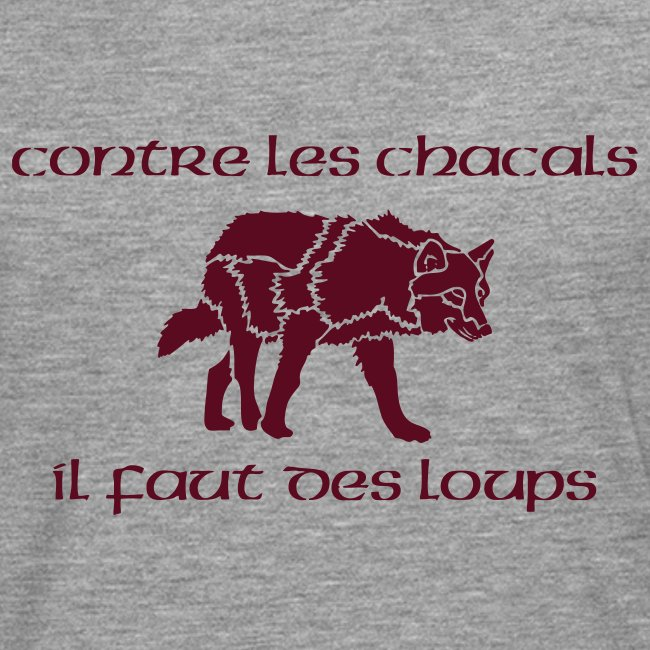 "T-shirt ML Homme ""Loup Vs Chacal"""