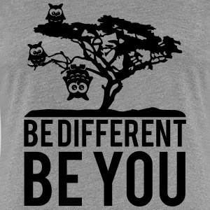 OWL upside down tree hanging be different you T-Shirts - Women's Premium T-Shirt