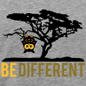 OWL upside down tree hanging be different T-Shirts - Men's Premium T-Shirt