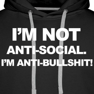 Anti Bullshit Sweat-shirts - Sweat-shirt à capuche Premium pour hommes