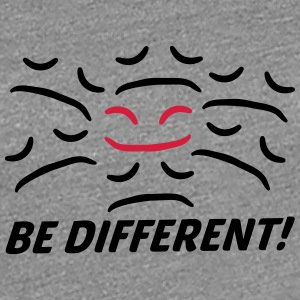 Be Different Happy Sad face different T-Shirts - Women's Premium T-Shirt